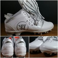 NEW Warrior Adonis Men's Lacrosse Cleats White/Grey Mens Size 13