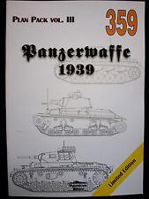 MILITARIA 359, PANZERWAFFE 1939-PLAN PACK vol.III  BY JANUSZ LEDWOCH