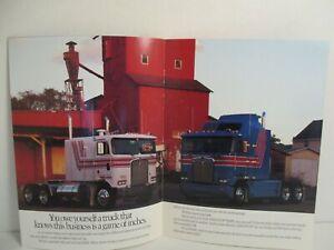 1988 / 89 Kenworth Tractor Garage Trucks Dealer Brochure Semi Diesel KW Trucker