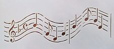 Musical Notes Stencils Reusable 10 mil Mylar Stencil