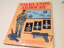 RARE WAR BATTLE BOOK FALKLANDS ARMOURY WEAPONS WEBBING INSIGNIA TROPHIES WW 1 2