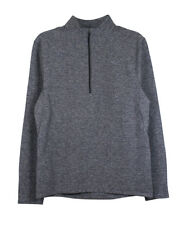 Lululemon Mens Heathered Black Surge Warm 1/2 Zip Athletic Pullover L New