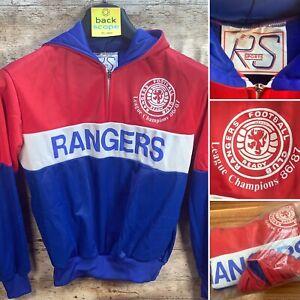 Small 1987 Glasgow Rangers Unofficial Tracksuit Top - Retro VTG Man Cave Pub Bar