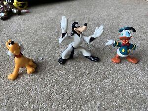 3 Vintage 1990s Disney Figurines Pluto Goofy & Donald Duck As New