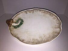 Vintage Majolica Mushroom Plate Platter Spaghetti Moss Mart Italy