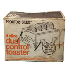 🔴 Vintage Proctor-Silex 4 Slice Dual Control Toaster Model T020AL Fruit Chrome