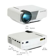 BYINTEK Mini HD Projector Home Theater,Portable Projector for Phone 1080P 3D 4K