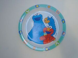 Sesame Street Plate Elmo & Cookie Monster  The First Years 2002