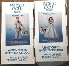 World Doll 1985 Gone With the Wind *NIB* Rhett Butler & Scarlet O'Hara Dolls (2)