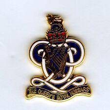 Enamel Lapel Badge Queens Royal Hussars