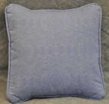 "Pillow made w Ralph Lauren Putney Tonal French Blue Paisley Fabric 12"" trim cord"