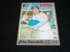 Expos John Boccabella Auto Signed 1970 Topps Card #19 Vintage Signature N