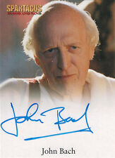 Spartacus 2012 Autograph Card signed by John Bach as Magistrate Calavius