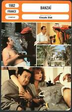BANZAI - Coluche,Mairesse,Zabou,Zidi (Fiche Cinéma) 1982