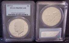 1977-S Ike Dollar PCGS Proof 69 Deep Cameo!