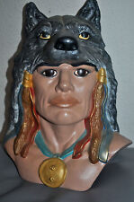 """Rare Collectible Vintage """"Wolf Spirit"""" By Cathy Anderson 11/96 Indian Sculpture"""