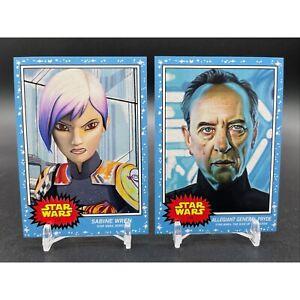 2020 Topps Star Wars Living Set #113 SABINE WREN /1,480 #114 GENERAL PRYDE /1222