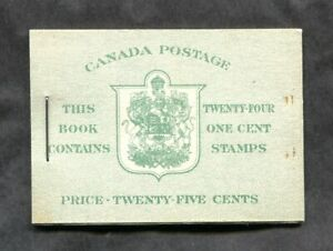 x650 - Canada Booklet BK32e (Type II) VF Complete MNH. KGVI War Issue