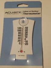 AcuRite Mini Thermometer 00320W Window Suction Cup Mount Indoor Outdoor Temperat