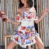 By Alina Mexton Damenkleid Sommerkleid Spitze Kleid Minikleid Blumen XS-M