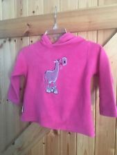 Girls Age 3-4 Year Cuddlezoo Hoodie Fleece Hand Crafted In Wales Horse Motif