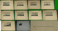 ODERO TERNI ORLANDO - 9 stampe di Navi da Guerra italiane - LIvorno 1942  O.P.I.