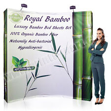 8ft Trade Show Booth Tension Fabric Pop Up Display Free Printing & Spotlights