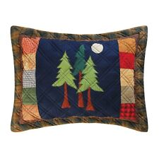 Timberline Quilted Lodge Style Pillow Sham 100% Cotton Matches Timberline Quilt