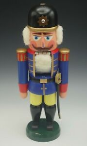 "VINTAGE ERZGEBIRGE EAST GERMANY SOLDIER NUTCRACKER 13"""