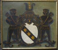 Schild Wappen Heraldische Schmiedeeisen Spade Banner Mittelalter von der Wand