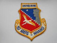 USAF / RAF  cloth squadron patch  live free or die 157 AREFG  NHANG