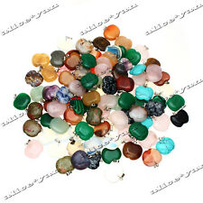 Fashion Natural apple Gemstone stone Silver Beads Pendant 12pcs/lot Wholesale