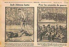 Jack Johnson boxer Boxing Havana Cuba Boxeur Boxe Jess Willard USA WWI 1915