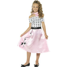 Rock'n'Roll Kinderkostüm 50er Jahre Kostüm Kind Fifties Karnevalskostüm Kleid
