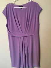 Adrianna Appellate Women's 22W Lilac Dress Polyester Elastane