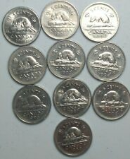 1990-1999 Canada 5 Cent/Nickel Lot  With Semi Key Dates 1991 and 1997