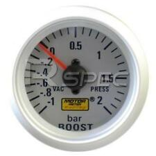 Car 52mm Silver Faced Turbo Boost Gauge 2 BAR