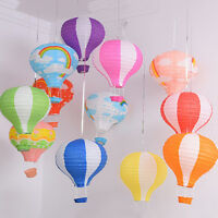 12'' Kids Rainbow Hot Air Balloon Paper Lantern Lampshade Ceiling Light Shade UK