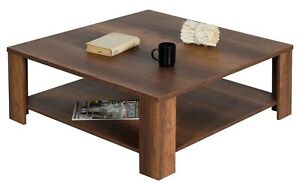 "Coffee Table OSLO 36"" Square by Melagio (Walnut)"