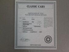 Danbury Mint Paperwork 1955 Oldsmobile Super 88 Convertible