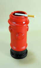 "Heavy Cast Iron Fire Hydrant Ashtray 10"" tall fireman gift table cigarette butt"