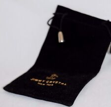 Jimmy Crystal Sunglasses Bag/Pouch. Black Velvet w/ Gold Imprint. New and unused