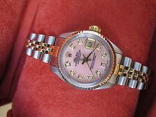 ROLEX Datejust Watch Steel 18 K Gold  Diamond Dial  Rolex Ladies Watch Rolex Box