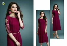 New Generation Georgette embroidary work Kurti Rani colrs