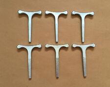 6 x clé T petit 3,5 pouces utilisés avec budget serrures horseboxes bus autocars remorque
