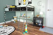 Dhp Junior Metal Loft Bed Frame W/ Ladder Twin Size Sturdy Furniture Silver New