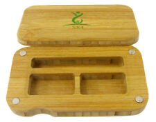 SX4 Magnetic Bamboo Wooden Stash Storage Rolling Box