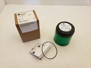 ALLEN BRADLEY 855T-B24TL3 GREEN STEADY LED STACK LIGHT 24V AC/DC SER C NNB