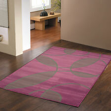 Extra Large Modern 8mm Cheap 200x290cm Aubergine Purple Grey Leaf Quality Rugs