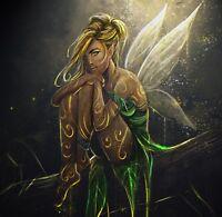 HD Art Canvas Print, Oil Painting Tinker Bell Tink Walt Disney Fairy 16x16